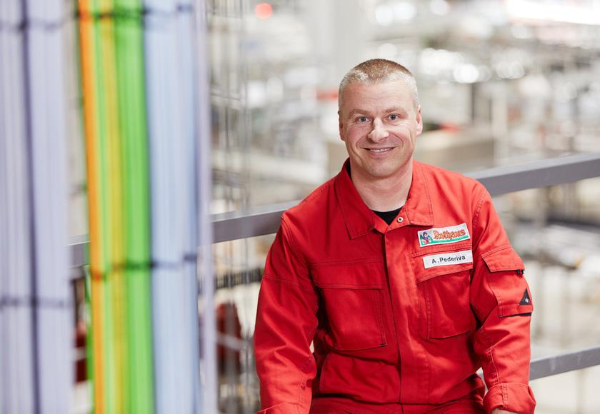 Elektromeister Adriano Pederiva von Rothaus